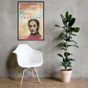 Bitcoin for Venezuela [Framed Print]