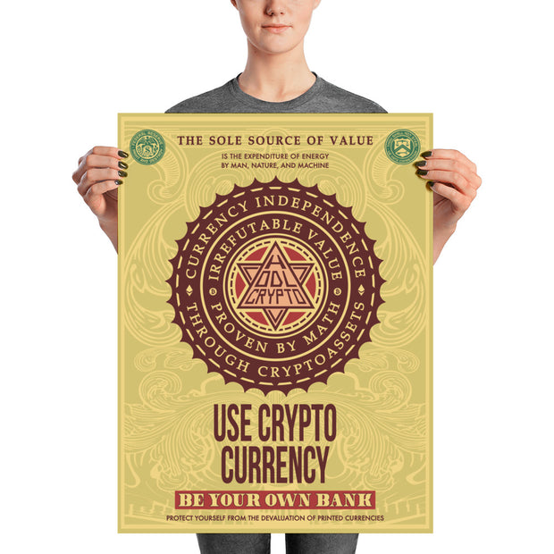 USE CRYPTO CURRENCY - HODL CRYPTO ART