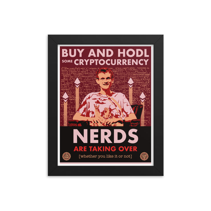 Nerds are Taking Over (Framed Print, Limited to 50) - HODL CRYPTO ART