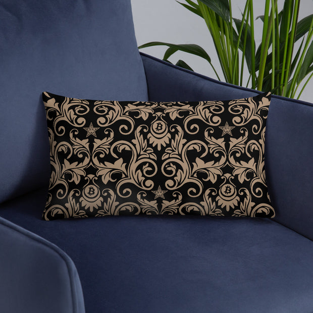 Victorian Black Bitcoin Pillow (Limited)