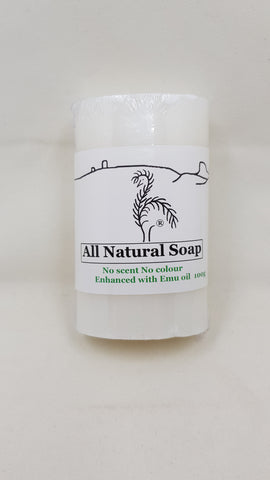 Natural Emu Oil Soap- Unscented (No Colour)