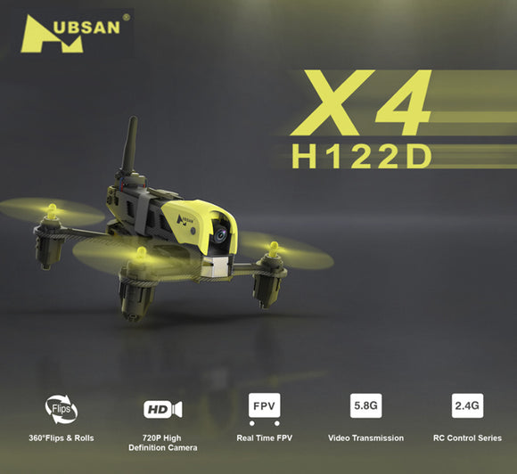 Hubsan X4 Storm H122D Standard Edition micro Racing Drone with HD 720P Camera 3D Flip