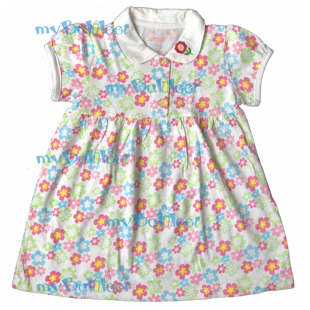 2bc8c623f Floral print Carter's Dress with Embroidered Collar – myBulileet