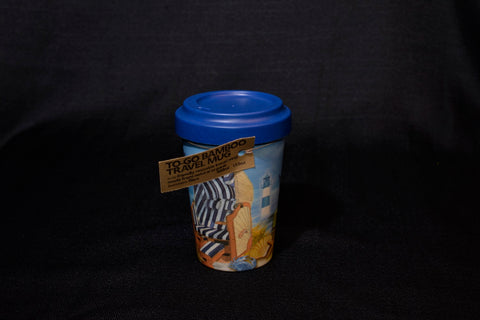 Bamboo To-Go Travel Mug - A Day at the Beach
