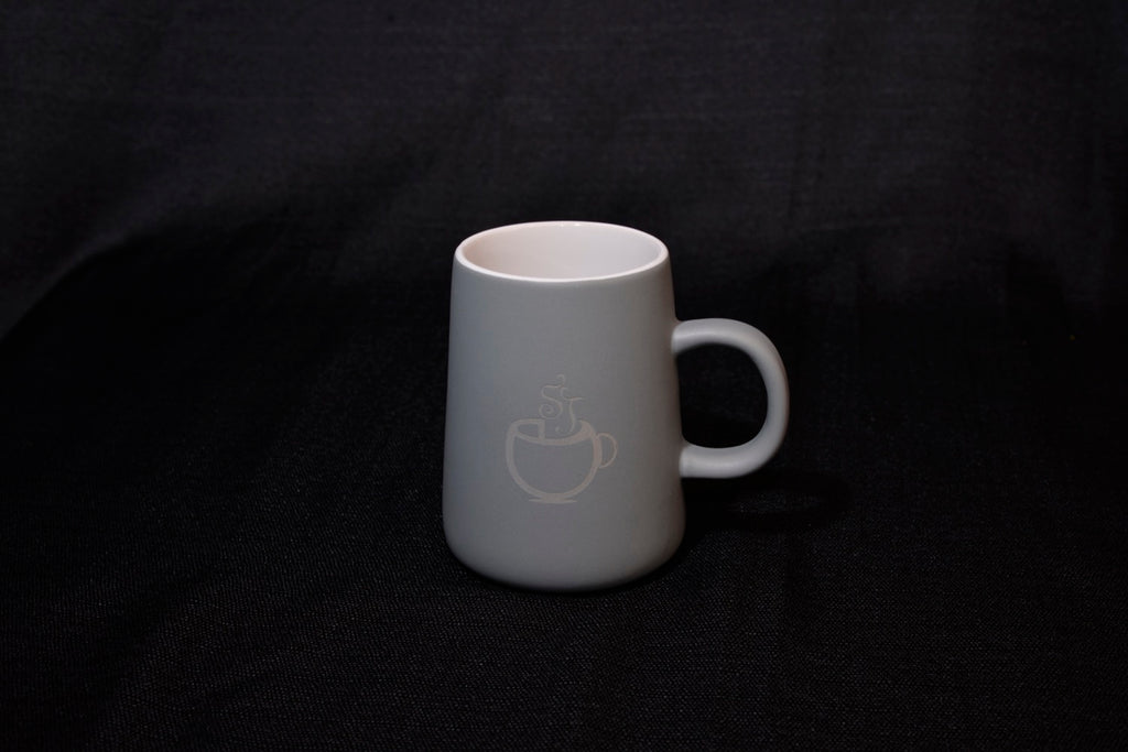 Stonehouse desk mug - grey/white