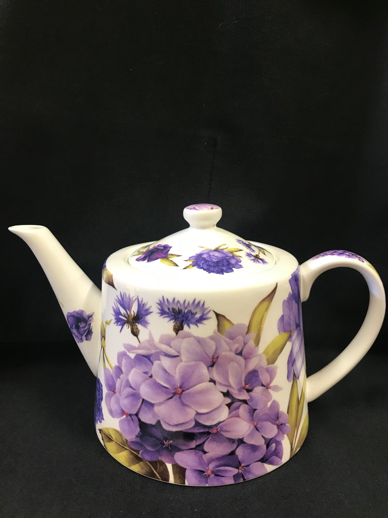 Purple Flowers Tea Pot