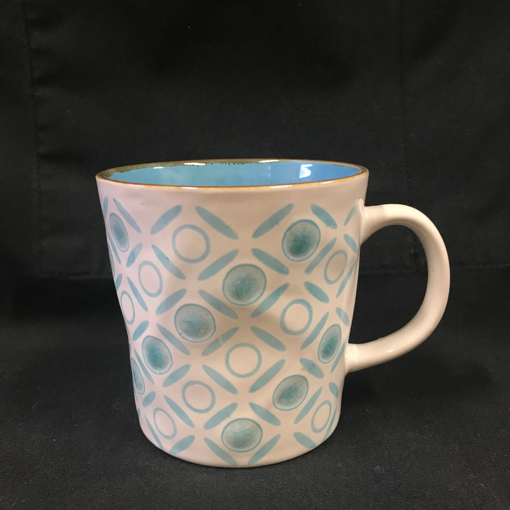 Checkered Mug - blue