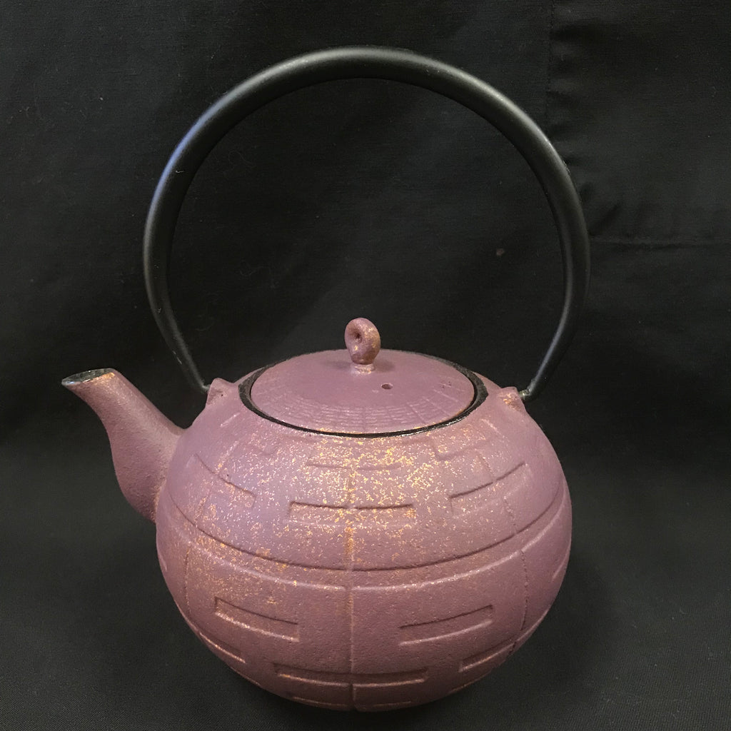 Cast Iron Tea Pot - Purple Gold