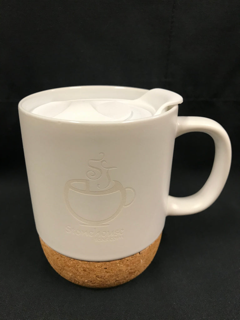 Ceramic Travel/Desk Mug - White