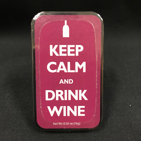 Candy Tin - Mints Keep Calm and Drink Wine