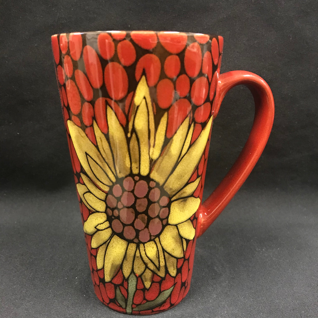 Sunflower Mug tall - red