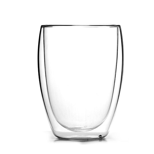 Glass double wall mug