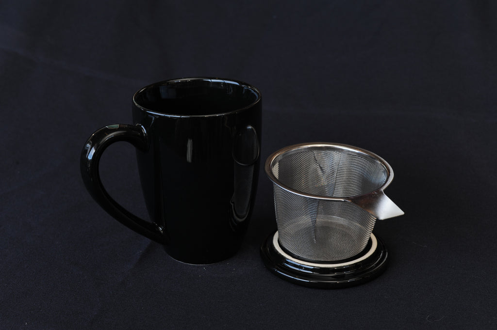 Tea Infuser Mug - black