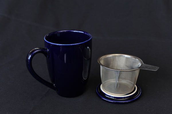 Tea Infuser Mug - blue