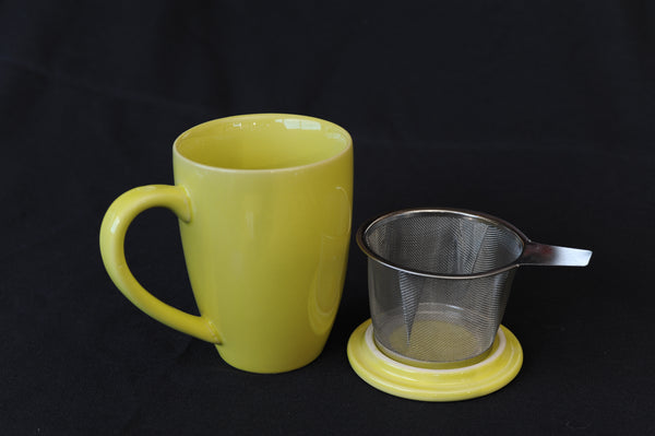 Tea Infuser Mug - yellow
