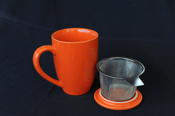 Tea Infuser Mug - orange