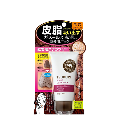 BCL Tsururi Point Clay Pack Ghassoul & Red Clay Power 55g
