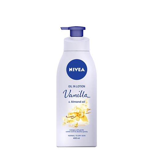 NIVEA Vanilla & Almond Oil Lotion 400ml