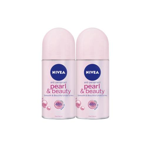 [Twin Pack] NIVEA Deodorant Female Pearl & Beauty Roll On 50ml
