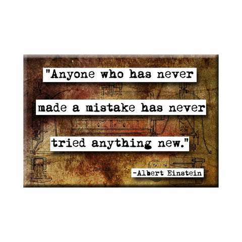 Albert Einstein Mistakes Quote Magnet (no.144)