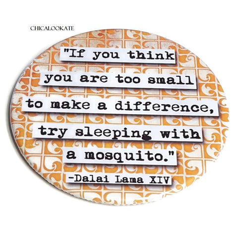 Dalai Lama Make a Difference Coaster