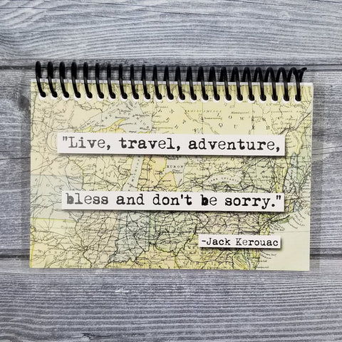 Jack Kerouac Live Travel Quote Blank 4x6 Notepad