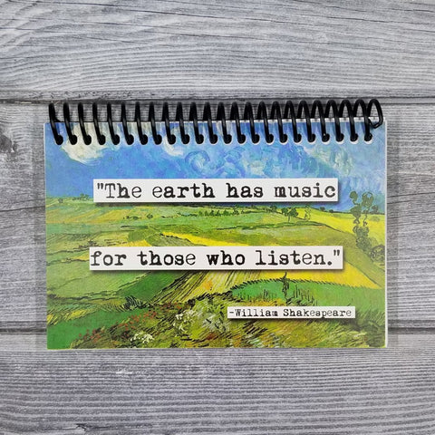 Shakespeare the Earth Has Music Quote Blank 4x6 Notepad