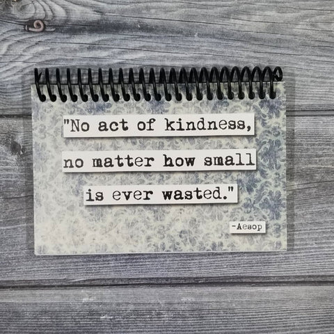 Aesop Kindness Quote Blank 4x6 Notepad