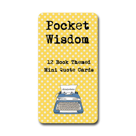 Books Pocket Wisdom Mini Quote Cards Set of 12