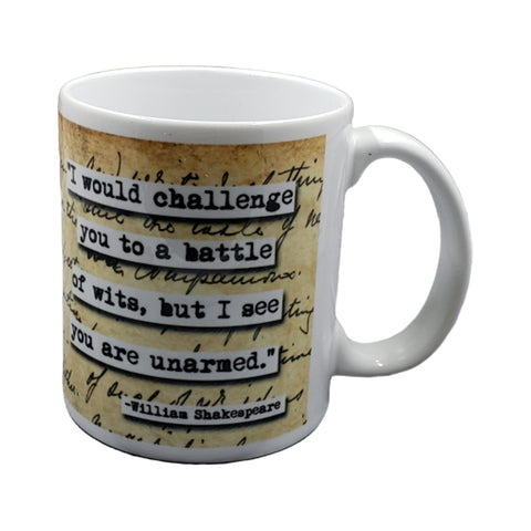 Shakespeare Battle of Wits Quote Mug