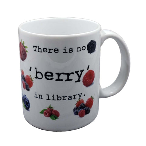 No Berry in Library Mug