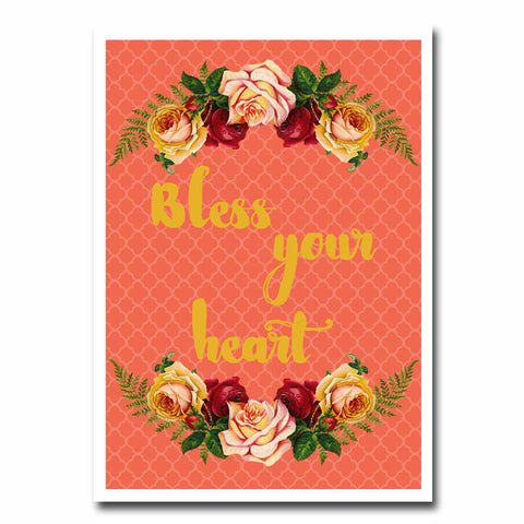 Bless Your Heart Blank Greeting Card