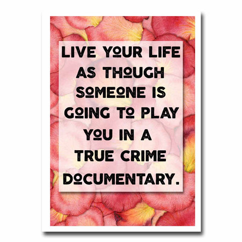 Live Your Life Blank Greeting Card NSFW