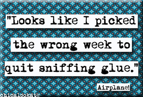 Airplane Picked the Wrong Week Quote Refrigerator Magnet