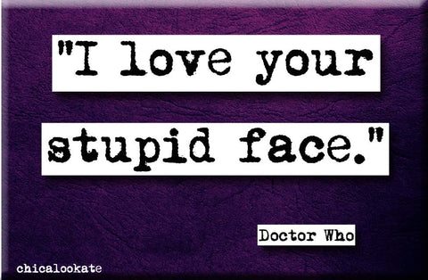 Doctor Who Love Your Stupid Face Quote Magnet (no.661)