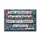 Anne Frank Human Greatness Refrigerator Magnet (no.927)