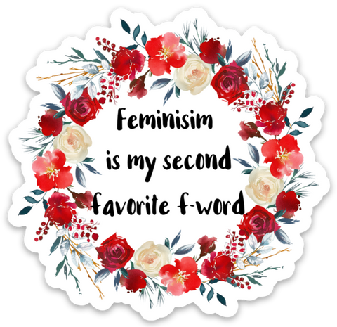 Second Favorite F-Word Vinyl Sticker