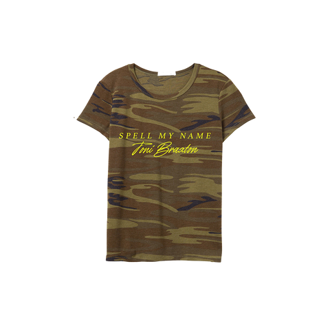 Toni Spell My Name Camo T-Shirt
