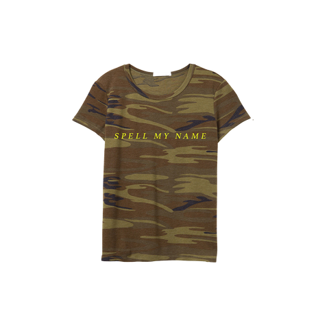 Spell My Name Camo T-Shirt