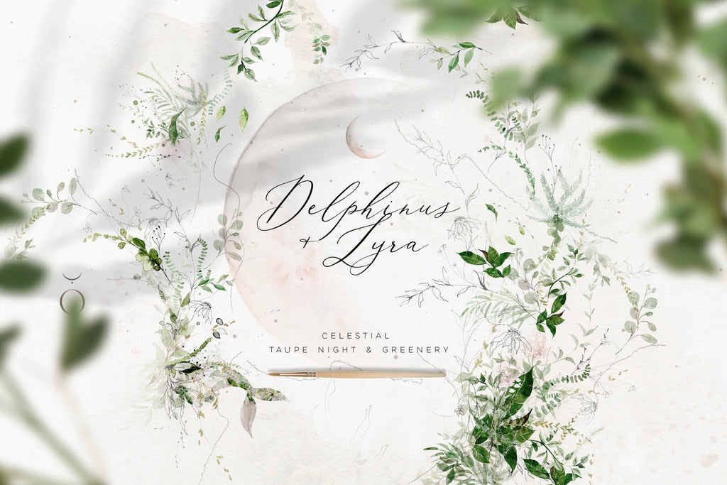 Delphinus+Lyra Magical Watercolor Collection
