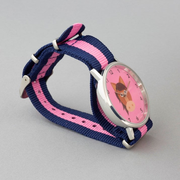 Candy Pink Pony Face Watch