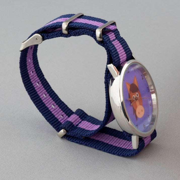 Lavender Purple Pony Face Watch