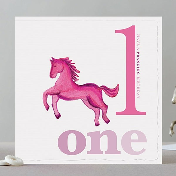 One Horse Birthday Card