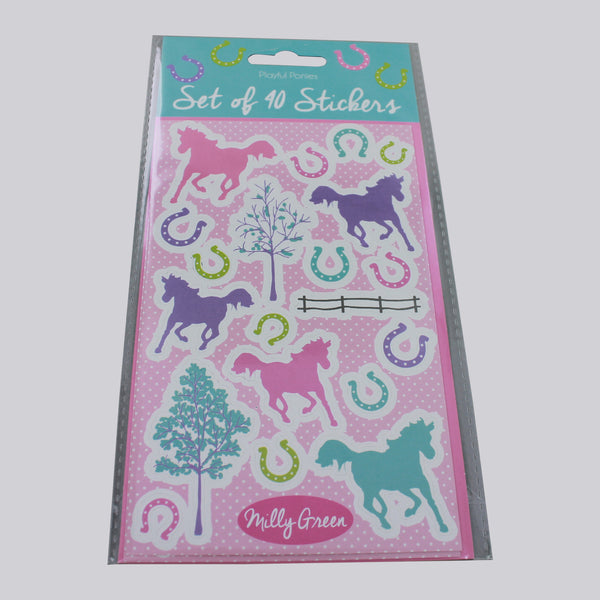 Milly Green Playful Ponies Set of Stickers