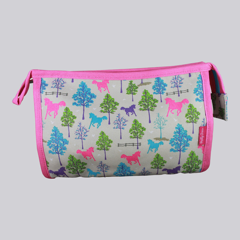 Playful Ponies Canvas Washbag