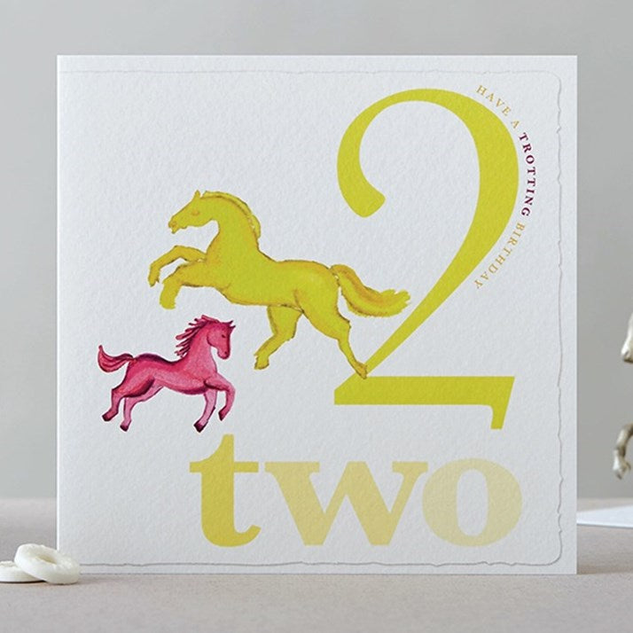 Two Horses Birthday Card 'Have a Trotting Birthday'