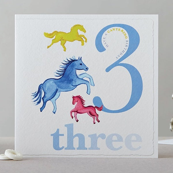 Three Horses Birthday Card