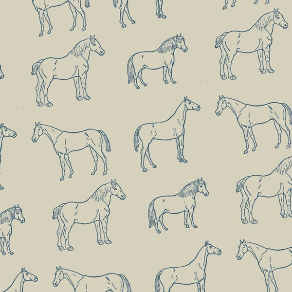 Teal & Stone Horses Wrapping Paper