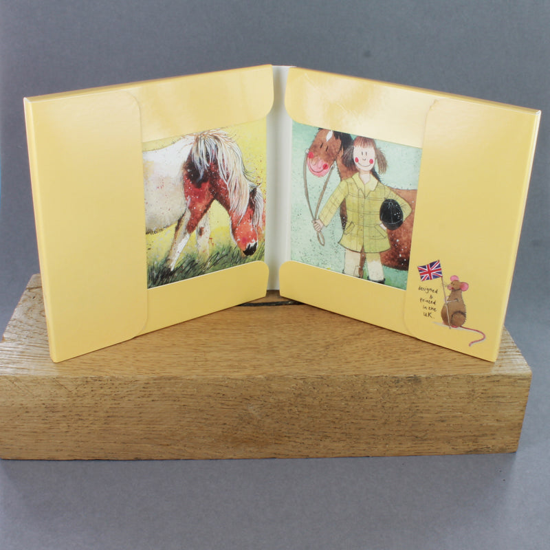 Horse Box of 8 Greetings Cards by Alex Clark