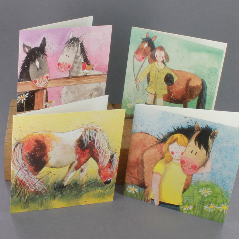 Pack of 8 greeting cards by Alex Clark presented in a box